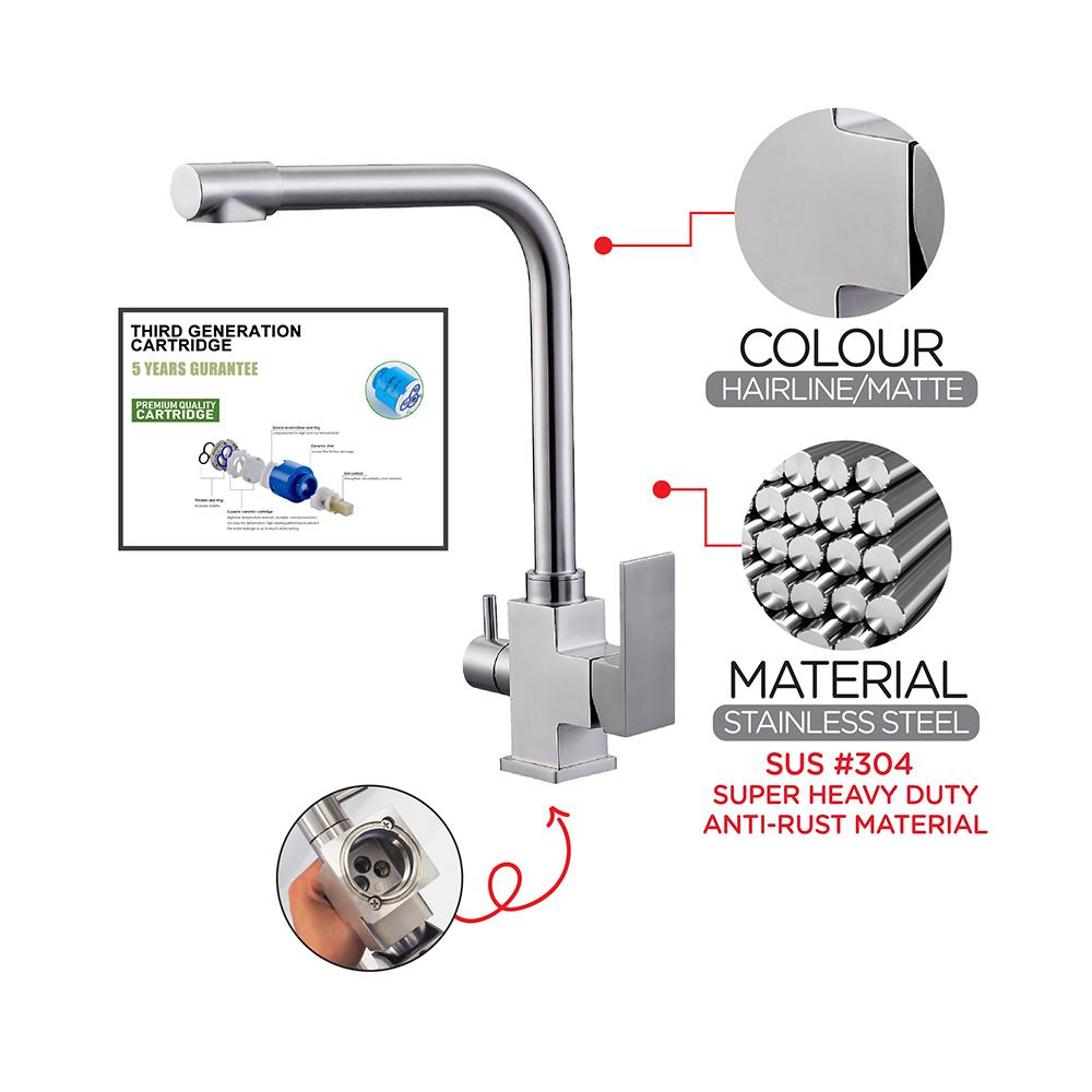 Kitchen Mixer Stainless Steel Mixer Sink mixer & filter tap