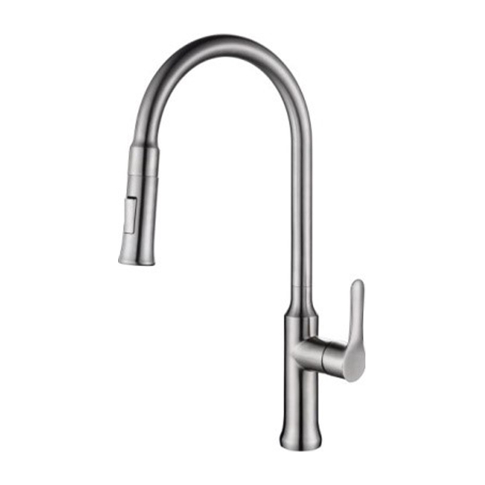 Kitchen Mixer|Stainless Steel Mixer|Single level pull down faucet