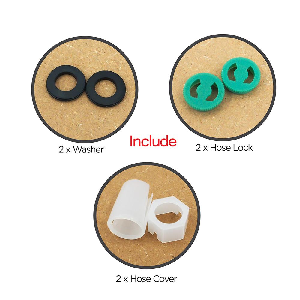 Shower Head & Hand Shower|Flexible Hose for Hand Shower|Silver rubber hose